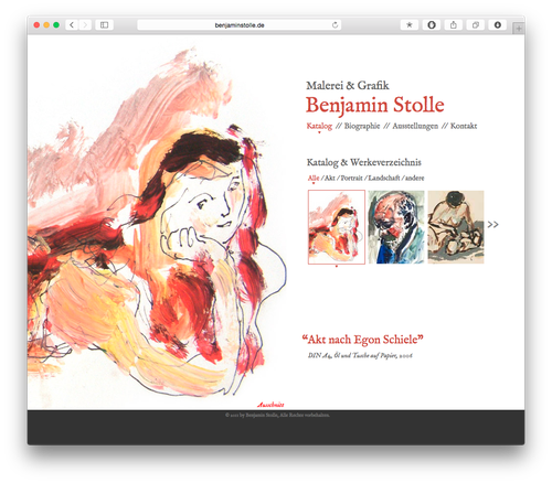 Screenshot: Benjamin Stolle Website