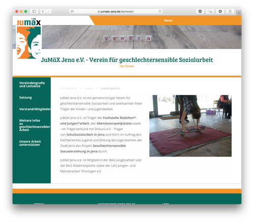 Screenshot: JuMäX Jena Website