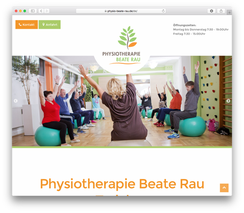 Screenshot: Physiotherapie Beate Rau